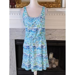 Lilly Pulitzer Blue Kori Dress High Tide Toile M